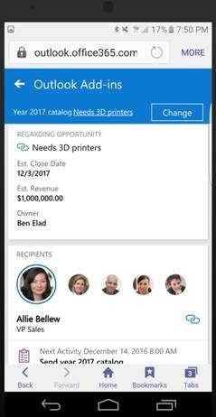 App for Outlook Mobile